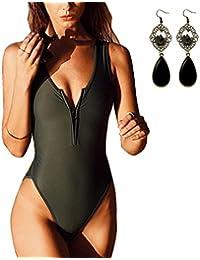 M-Queen Las Mujeres Push Up Bikini Atractivas Pedazo de Traje de Baño Bañador de Una Pieza Monokini