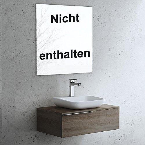 Badmöbel-Set Ravello 5, BTH: 80x50x37cm, Farbe: Nussbaum, bestehend aus Waschbecken, Waschbeckenunterschrank
