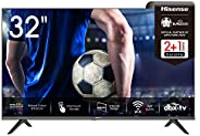 Hisense 32AE5500F 80 cm (32 Zoll) Fernseher (HD, Triple Tuner DVB-C/S/S2/T/T2, Smart-TV, Frameless, Prime Vide