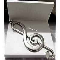 Ciondoli CHIAVE DI VIOLINO in metallo per bracciali / collane/ portachiavi nichel free