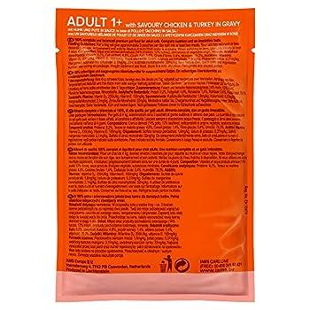 IAMS Nourriture Humide en Sauce Poulet/Dinde pour Chat Adulte Toutes les Races 85 g - Pack de 24