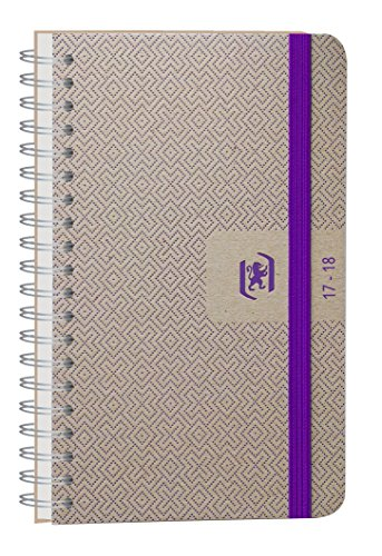 Oxford Nude 2017-2018 Daily School Diary 1 Day to a Page 352 Pages 12 x 18 cm purple