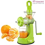 Floraware Plastic Fruit And Vegetable Juicer With Vacuum Locking System (Green)