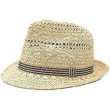 Trilby Sombrero Jazz Padre-niño Paja Para Niños Hombres Cinta Viaje Gorro Sombrero Verano