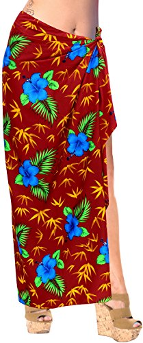 Badebekleidung Bademode Badeanzug einpacken Sarong Badeanzug verschleiern Pareo Rock Frauen Rot