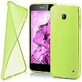 moex Nokia Lumia 630 | Hülle Silikon Transparent Grün Clear Back-Cover TPU Schutzhülle Dünn Handyhülle für Nokia Lumia 630/635 Dual SIM Case Ultra-Slim Silikonhülle Rückseite