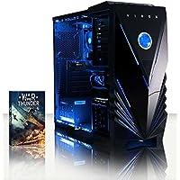 VIBOX Vision 24 Gamer PC - 3,9GHz AMD 2-Core CPU, R5 230 GPU, buon mercato, buon mercato, Multimedia, Dekstop Gaming PC con buono Gioco, Illuminazione al Azul interna, Garanzia a vita* (3,7GHz (3,9GHz Turbo) AMD A4 6300 Dual 2-Core CPU Processore, AMD Radeon R5 230 1GB scheda grafica dedicata GPU, 8GB Memoria DDR3 1600MHz RAM ad alta velocità, 2TB (2000GB) Sata III 7200rpm Hard-Disk, 400W PSU 85+ Alimentatore, Caso Vibox Tattico LED Azul Gaming, FM2+ Scheda Madre, Senza Sistema Operativo)