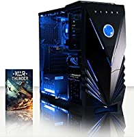 VIBOX Gaming PC - Sharp Shooter 7SW - 4.0GHz AMD FX 4-Core CPU, GTX 1050 GPU, Advanced, Multimedia, Desktop Computer with Game Bundle, Blue Internal Lighting and Lifetime Warranty* (Super Fast AMD FX 4300 Quad 4-Core CPU Processor, Nvidia GeForce GTX 1050