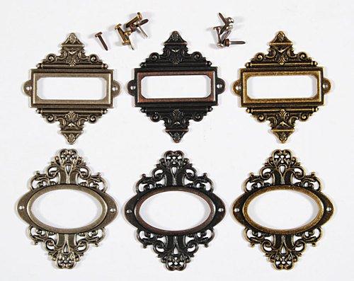 Idea-Ology Metal Ornate Plates 2.25