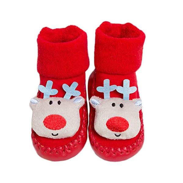 ZOOMY Calcetines navideños para bebés Calcetines Antideslizantes para Interiores para niños y niñas 2