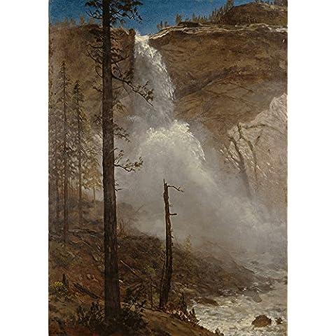 Albert Bierstadt - cataratas de Yosemite de impresión de la bella arte, papel brillante/papel, Up to 594mm by 841mm or 23.4
