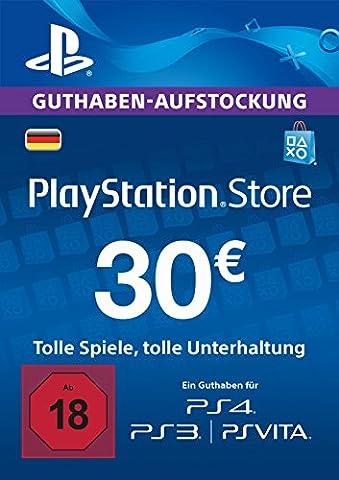 PlayStation Store Guthaben-Aufstockung | 30 EUR | PS4, PS3, PS Vita PSN Download Code - deutsches Konto