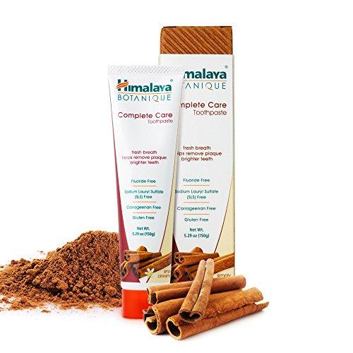 Himalaya Botanique Toothpaste - Simply Cinnamon - Natürliche Zahnpasta ohne Fluorid, SLS, Gluten und Carrageenan - Entfernt Plaque und Mundgeruch, verhindert Karies und Zahnfleischbluten, 150g