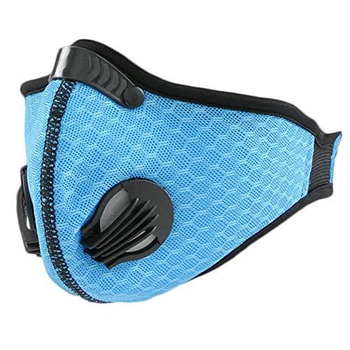 ZZbaixinglongan Aktivkohle staubdichte Maske für die Gesichtsmaske Filtration Abgas Anti-Pollen Allergie PM2.5 Staubmaske Filter für Radfahren blau - Aktivkohle-filtration