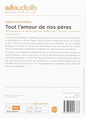 Tout l'amour de nos pères: Livre audio - 1 CD MP3 579 Mo