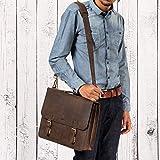 LEABAGS Gainsville Aktentasche aus echtem Büffel-Leder im Vintage Look – Muskat - 6