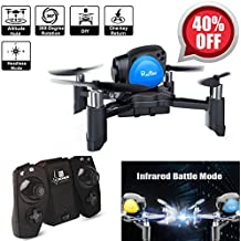 Mini Drone Quadcopter, Remote Control RC Pocket Drone(Infrared Battle Mode, Headless Mode, Altitude Hold, One Key To Return, 3D Roll MAV RTF) Good for Kids Toy Christmas Gifts(Blue)