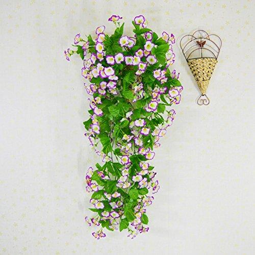 Masocking@ künstliche Fake Blume Blumenstrauß an der Wand montierte Niou Hua Decke Flansch Weinstock ein Kabelbaum Lila