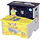 Fantasy Fields by Teamson Outer Space Childrens Wooden Toilet Training Step up Stool TD-12223A