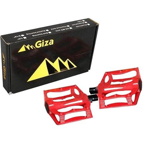 MaMaison007 Giza aluminio aleación bola ultra ligera bicicleta pedales para Mountain Bike - rojo