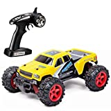 Wokee SUBOTECH,RC Auto Buggy Monstertruck 25MPH 40 km / h High Speed 1:24 Skala Off Road,Toys ferngesteuertes Buggy Racing RC Auto (Gelb)