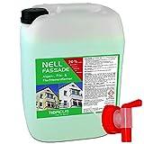 NELL FASSADE 10 Liter gebrauchsfertig Algenentferner Pilzentferner Flechtenentferner Grünbelagsentferner Grabsteinpflege
