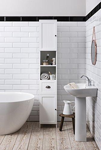 Noa and Nani Stow Tallboy Bathroom Cabinet Hallway Storage Unit in White Noa amp; Nani