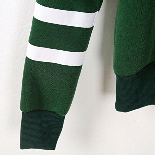 Vovotrade ❤❤Heiß !!! Womens Langarm Kapuzenshirt Bluse Stitching Fleece fest Frühling / Herbst / Winter Grün