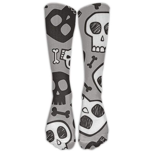 Bag shrots Skulls And Bones Halloween Knee High Graduated Compression Socks For Women And Men - Best Medical, Nursing, Travel & Flight Socks