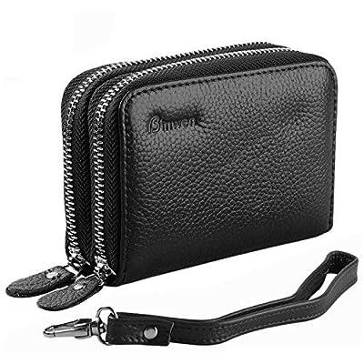 Portefeuilles pour femmes, carte de crédit en cuir véritable de blocage RF Safe Pocket / Holder / Case Protector Purse for Ladies Girls
