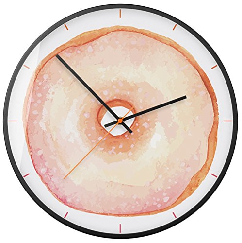yifutang Schön Krapfen Wanduhr Wohnzimmer Dekoration Leise Wall Clock, 001 - Antike Warenkorb