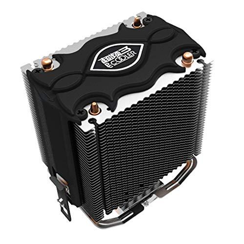 Cikuso PCCOOLER CPU Kuehler 2 Waermerohr 80mm LED Blu-ray Luefterrad Fuer Intel LGA775 1150 1151 1155 1156 Fuer AMD754 AM2 AM2 + AM3 CPU Kuehler (Lga775 Cpu Kühler)