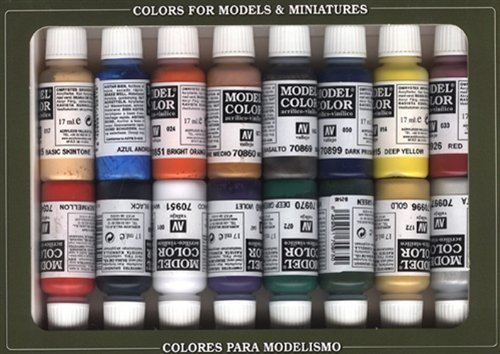 2XVallejo Model Color Napoleonic Acrylic Paint Set – Assorted Colours (Pack of 16) on Line