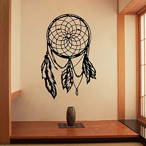 TYLPK Buddha Mandala Lotus Adesivo murale Adesivi piuma Decorazioni per la casa Murale Camera da letto Soggiorno Accessori Accessori Carta da parati Verde L 58 cm X 90 cm