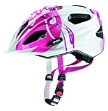 UVEX Kinder Quatro Junior Mountainbikehelm, Pink-Silver, 50-55 cm