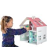 Casa di bambola cartone, per costruire e decorare