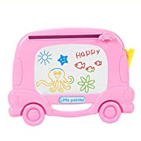 Samber Colorful Magnetic Drawing Board Erasable Writing Sketching Pad Plastic Cartoon Learning Painting Board Magic Pen Doodle Toy For Kids Children/C
