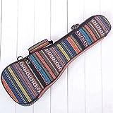 SODIAL 26 Zoll Padded Cotton Folk Portable Bassgitarre Tasche Ukulele Case Box Cover Gitarre Rucksack mit Doppelgurt