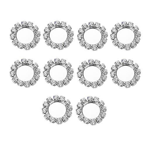 Hellery 10x Schmuck Einstellung Basis Flatback Button Unterstützung Cabochon Tablett 8mm Silber (Kostüm Schmuck Ring Einstellungen)