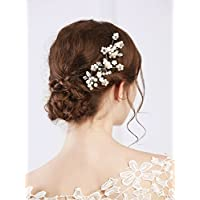 Fxmimior nuziale vintage wedding party oro rosa fiore di cristallo STRASS  forcine capelli accessori donna copricapo 7c08d09208d6