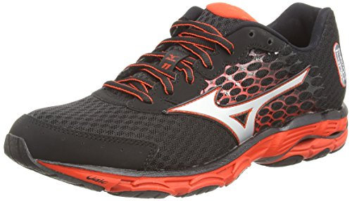 Mizuno Wave Inspire 11, Chaussures de Running Entrainement Homme - Noir (Black/Silver/Orange) - 46.5 EU