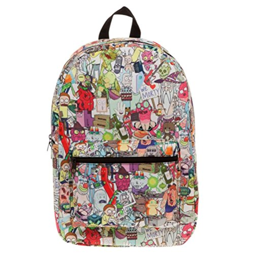 Mochila escolar Rick y Morty Sublimated de BioWorld