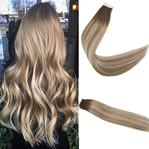 Easyouth Balayage Tape Extensions Brown 20