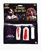Zombie Halloween SCAR Juego látex Sangre CARNE FX Maquillaje Disfraz Adulto TERROR