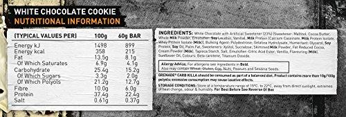Grenade Carb Killa Hochproteinriegel, White Chocolate Cookie, 12 x 60g - 5