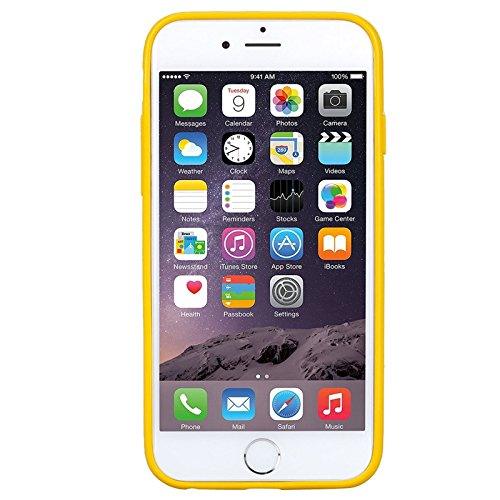 iPhone 5 / 5s / SE Hülle, Yokata Einfarbig Jelly Weich Silikon Gel Case Ultra Slim Matte Cover Anti-Fingerprint Schutzhülle Sehr Dünn Handyhülle - Weiß Gelb