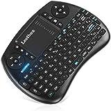 Leelbox [Layout Italiano] Mini Tastiera, QPAU 2.4Ghz Mini Tastiera Senza Fili Wireless con Touchpad per PC, Pad, Android/Google TV Box, PS3, Xbox 360, HTPC, IPTV (Nero)