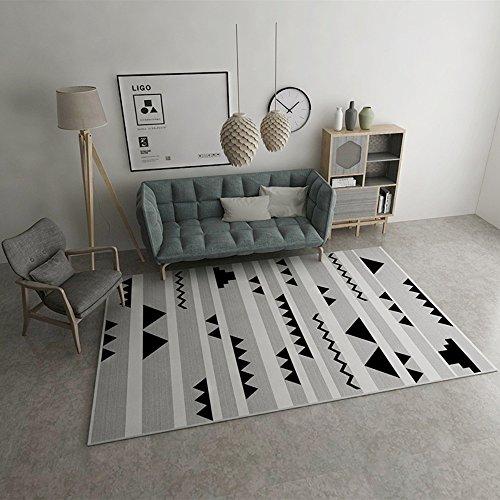 Bws_ tappeto vintage tradizionale naturale semplice moderno rettangolare classico tappeto europeo per camera da letto, salotto, studi, ristoranti, ecc,120*160cm