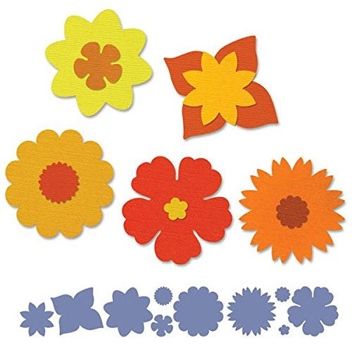 Sizzix - Fustella con motivo floreale, design di Brenda Walton, colore: Nero - Singles Sizzix Sizzlits