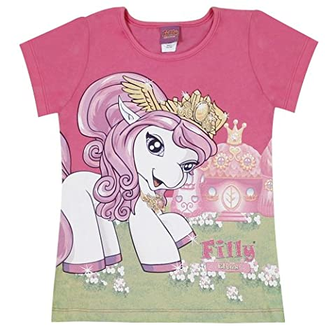 Filly Girls Crew Neck 1/2 Sleeve T-Shirt Red - Pink (849 carmine rose) 3 Years